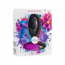 Мощное виброяйцо Alive Magic Egg MAX Violet с пультом ДУ, мощное