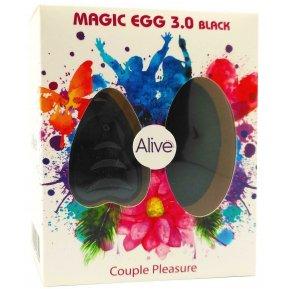 Виброяйцо Alive Magic Egg 3.0 Black с пультом ДУ, на батарейках