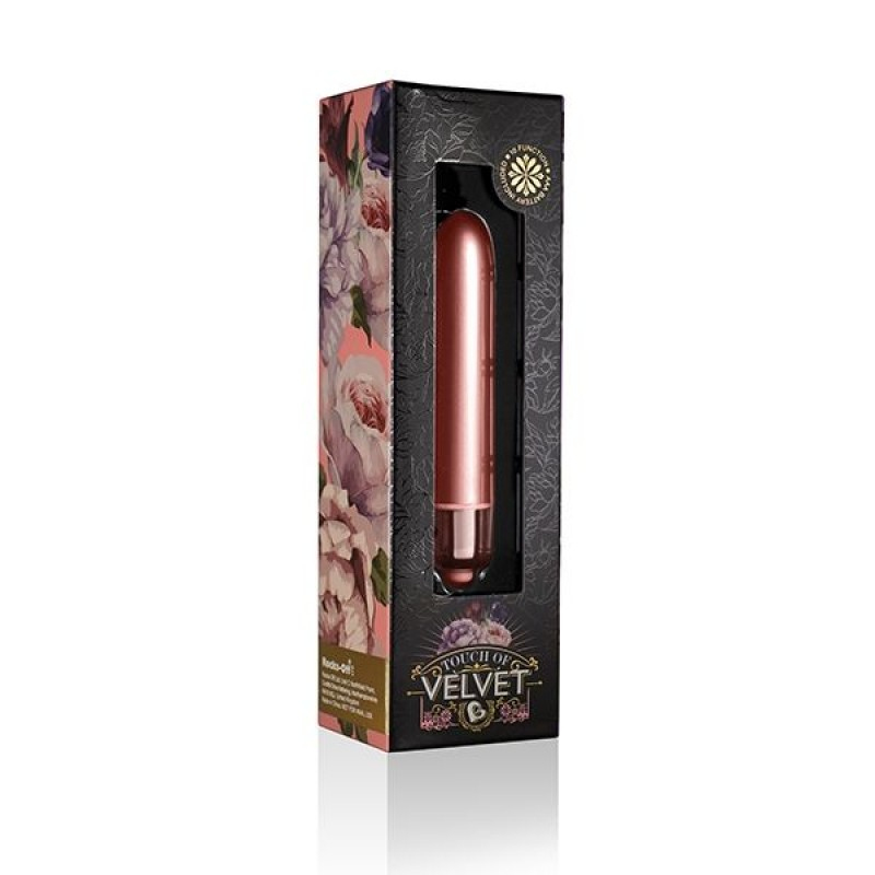 Вибропуля Rocks Off RO-90mm Touch of Velvet Peach Blossom матовая