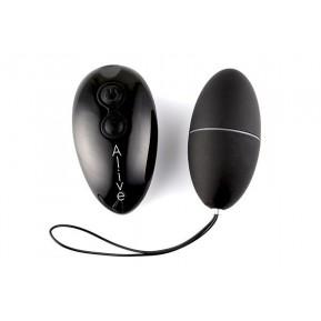 Виброяйцо Alive Magic Egg 2.0 Black с пультом ДУ, на батарейках