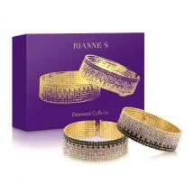Лакшери наручники-браслеты с кристаллами Rianne S: Diamond Cuffs, пода...