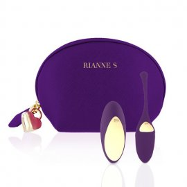 Виброяйцо Rianne S: Pulsy Playball Deep Purple с вибрирующим пультом Д/У, косметичка-чехол