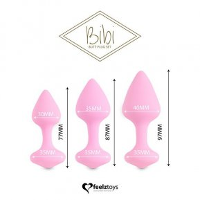 Набор силиконовых анальных пробок FeelzToys - Bibi Butt Plug Set 3 pcs Pink