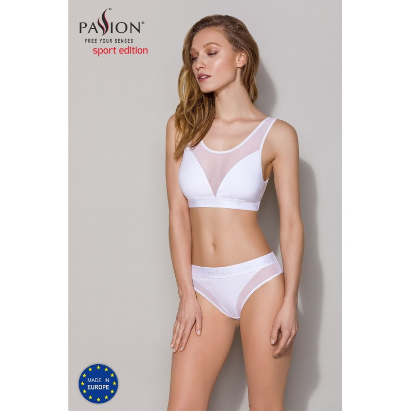 Трусики с прозрачной вставкой Passion PS002 PANTIES white, size S