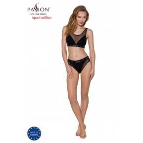 Топ с прозрачной вставкой Passion PS002 TOP black, size M