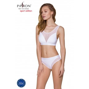 Топ с прозрачной вставкой Passion PS002 TOP white, size L