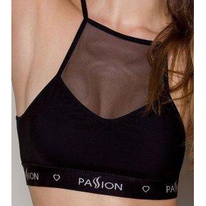 Спортивный топ с прозрачной вставкой Passion PS006 TOP black, size XL