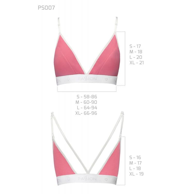 Спортивный топ с двойными бретелями Passion PS007 TOP pink, size L