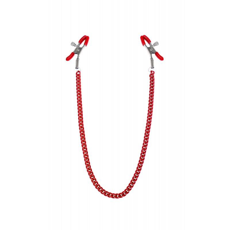 Зажимы для сосков с цепочкой Feral Feelings - Nipple clamps Classic, красный