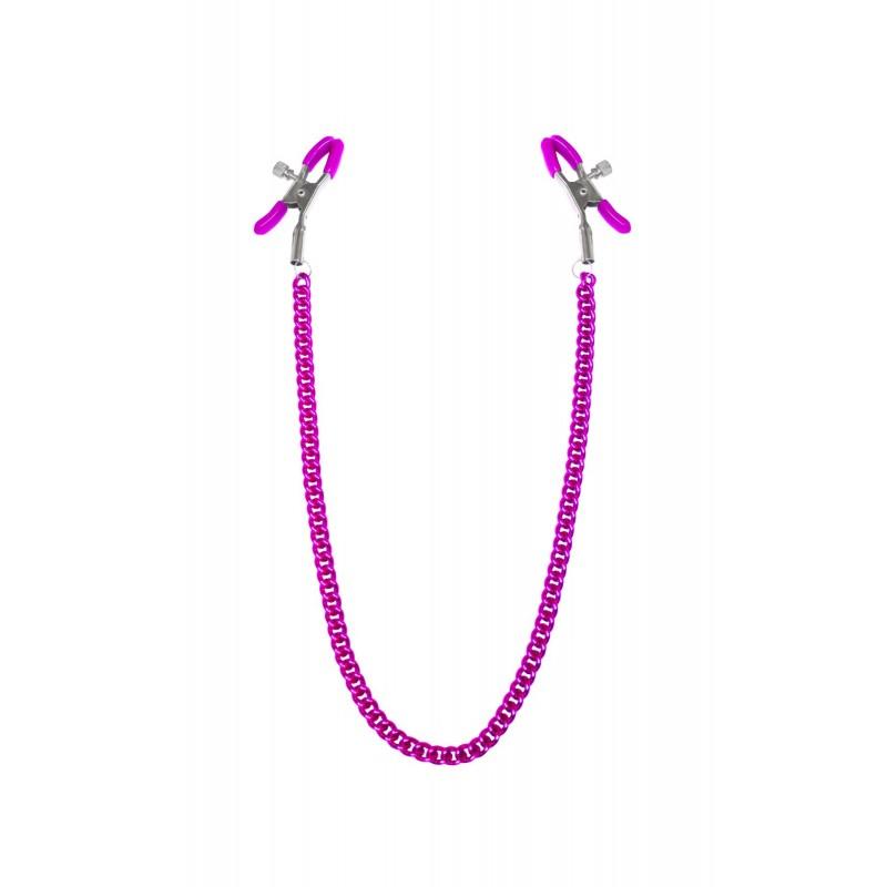 Зажимы для сосков с цепочкой Feral Feelings - Nipple clamps Classic, розовый