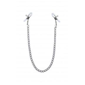 Зажимы для сосков с цепочкой Feral Feelings - Nipple clamps Classic, серебро/белый