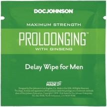 Пролонгирующая салфетка Doc Johnson Delay Wipe For Men с экстрактом же...