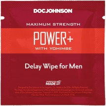 Пролонгирующая салфетка Doc Johnson Power+ Delay Wipe For Men с экстра...