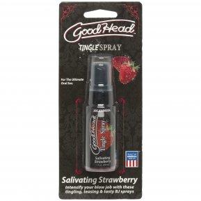 Спрей для минета Doc Johnson GoodHead Tingle Spray – Strawberry (29 мл) со стимулирующим эффектом