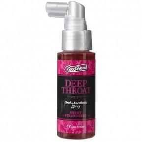 Спрей для минета Doc Johnson GoodHead DeepThroat Spray – Sweet Strawberry 59 мл для глубокого минета