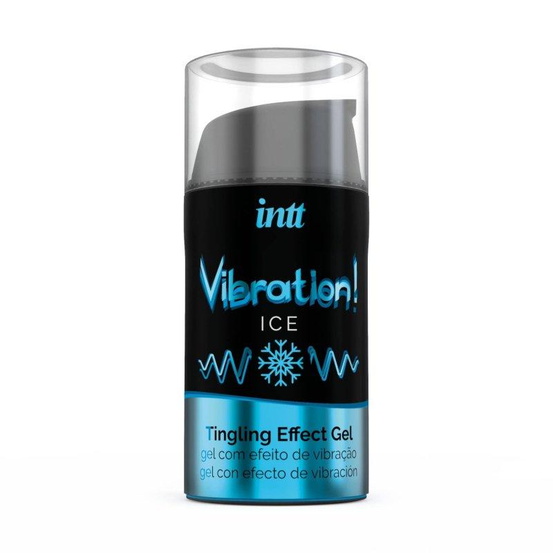 Жидкий вибратор Intt Vibration Ice (15 мл), густой гель, очень необычный, действует до 30 минут