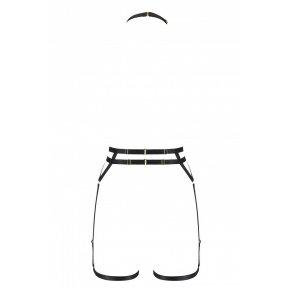 Портупея-стрепы с двойным ремнем DENIRA black L/XL - Passion Exclusive