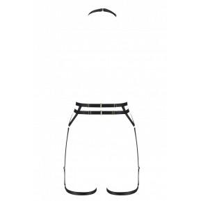 Портупея-стрепы с двойным ремнем DENIRA black S/M - Passion Exclusive