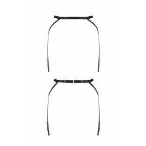 Пояс-стрепы с подвязками для чулок MEGGY GARTER BELT black L/XL - Passion Exclusive