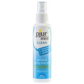 Очищающий спрей Pjur med CLEAN 100 мл для нежной кожи и игрушек, антибактериальный