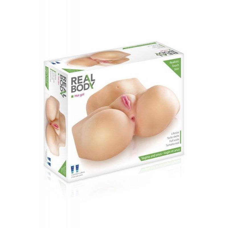 Мастурбатор полуторс Real Body - Hot Girl, два входа: вагина и попка