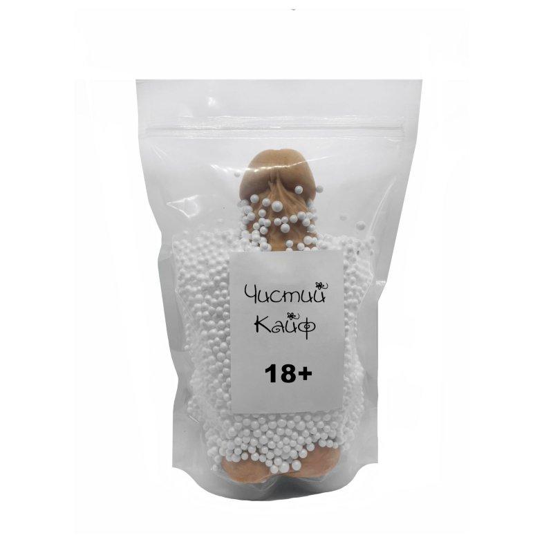Крафтовое мыло-член с присоской Чистый Кайф Brown size XL натуральное