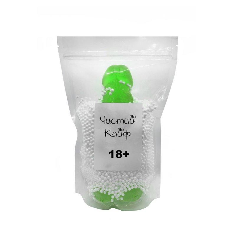 Крафтовое мыло-член с присоской Чистый Кайф Green size XL натуральное