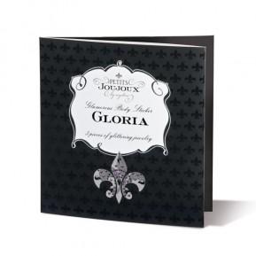 Пэстис из кристаллов Petits Joujoux Gloria set of 3 - Black, украшение на грудь и вульву