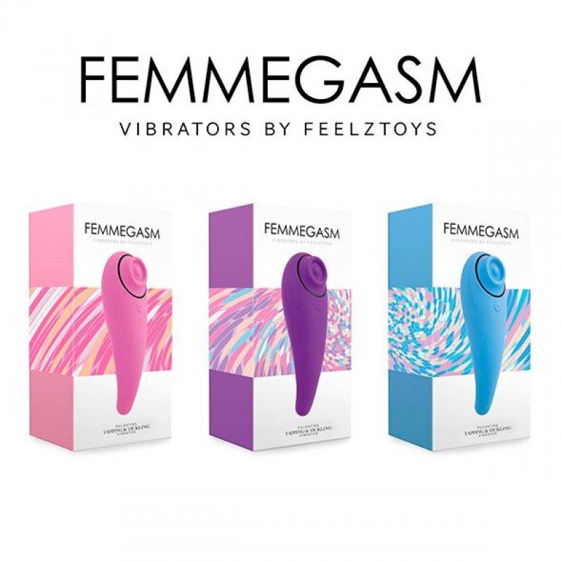 Пульсатор для клитора плюс вибратор FeelzToys - FemmeGasm Tapping & Tickling Vibrator Pink