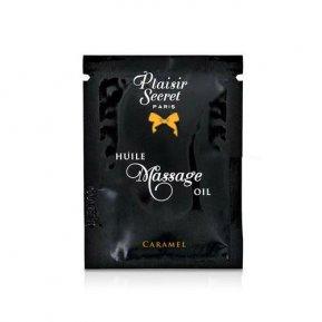 Пробник массажного масла Plaisirs Secrets Caramel (3 мл)