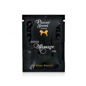 Пробник массажного масла Plaisirs Secrets Creme Brulee (3 мл)