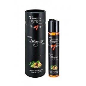 Массажное масло Plaisirs Secrets Exotic Fruits (59мл) с афродизиаками съедобное, подарочная упаковка