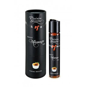 Массажное масло Plaisirs Secrets Creme Brulee (59 мл) с афродизиаками съедобное, подарочная упаковка