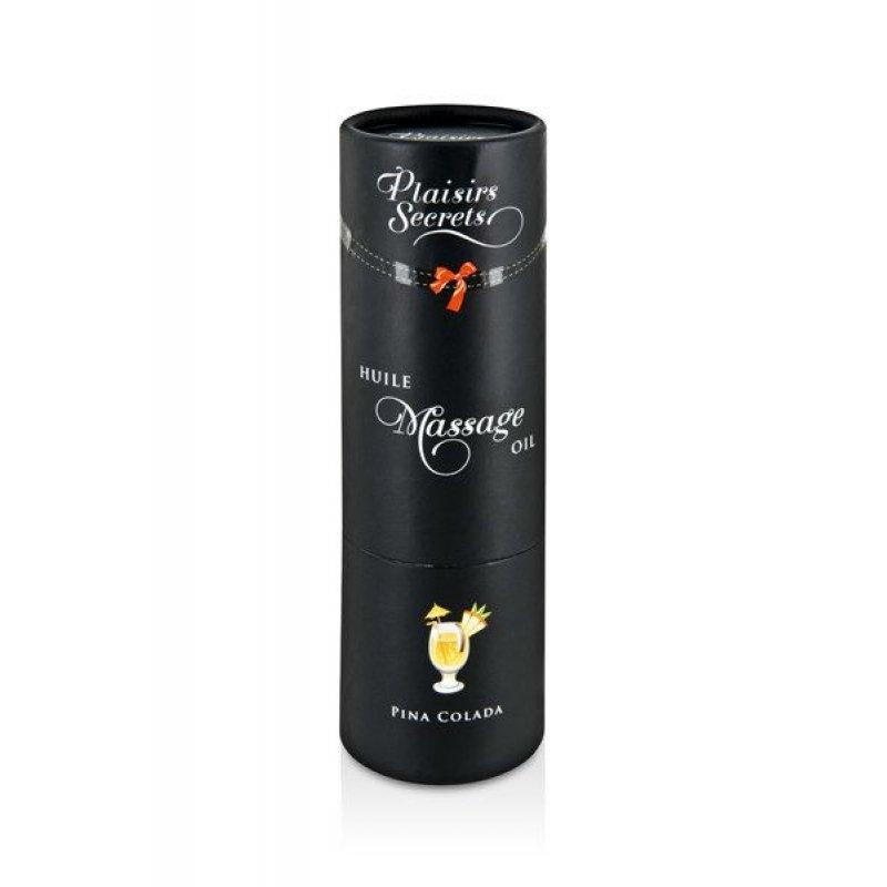 Массажное масло Plaisirs Secrets Pina Colada (59 мл) с афродизиаками, съедобное, подарочная упаковка