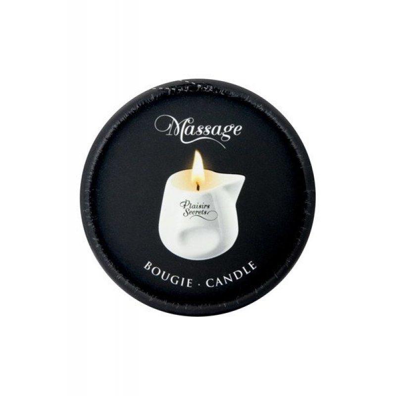 Массажная свеча Plaisirs Secrets Coconut (80 мл) подарочная упаковка, керамический сосуд