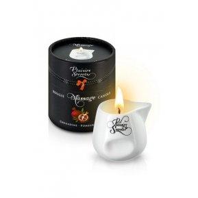 Массажная свеча Plaisirs Secrets Pomegranate (80 мл) подарочная упаковка, керамический сосуд