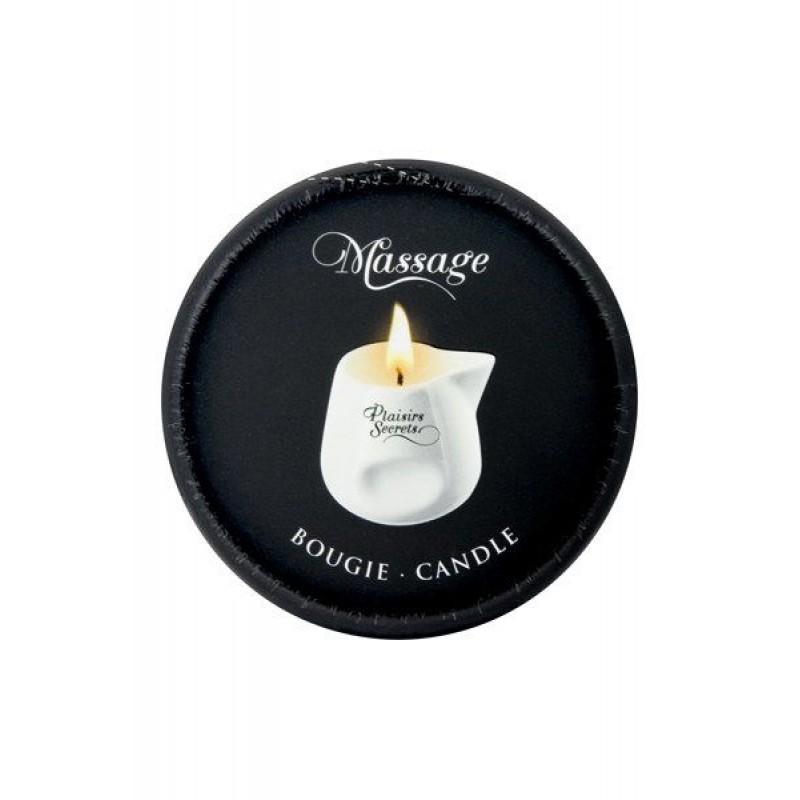 Массажная свеча Plaisirs Secrets Pineapple Mango (80 мл) подарочная упаковка, керамический сосуд