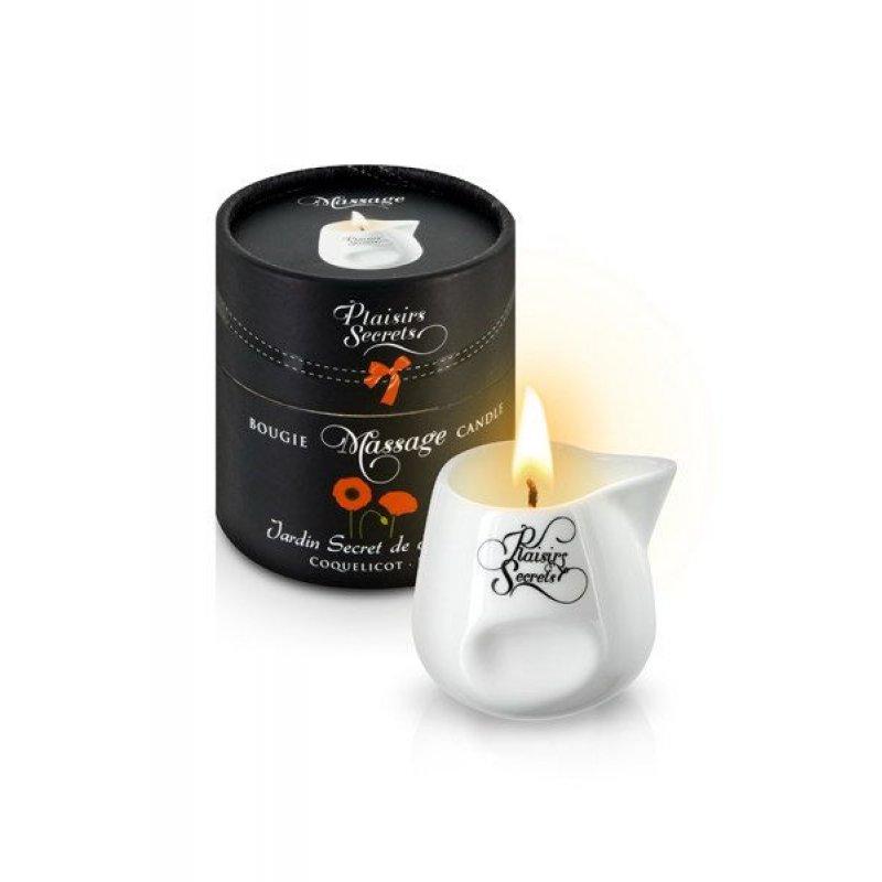 Массажная свеча Plaisirs Secrets Poppy (80 мл) подарочная упаковка, керамический сосуд