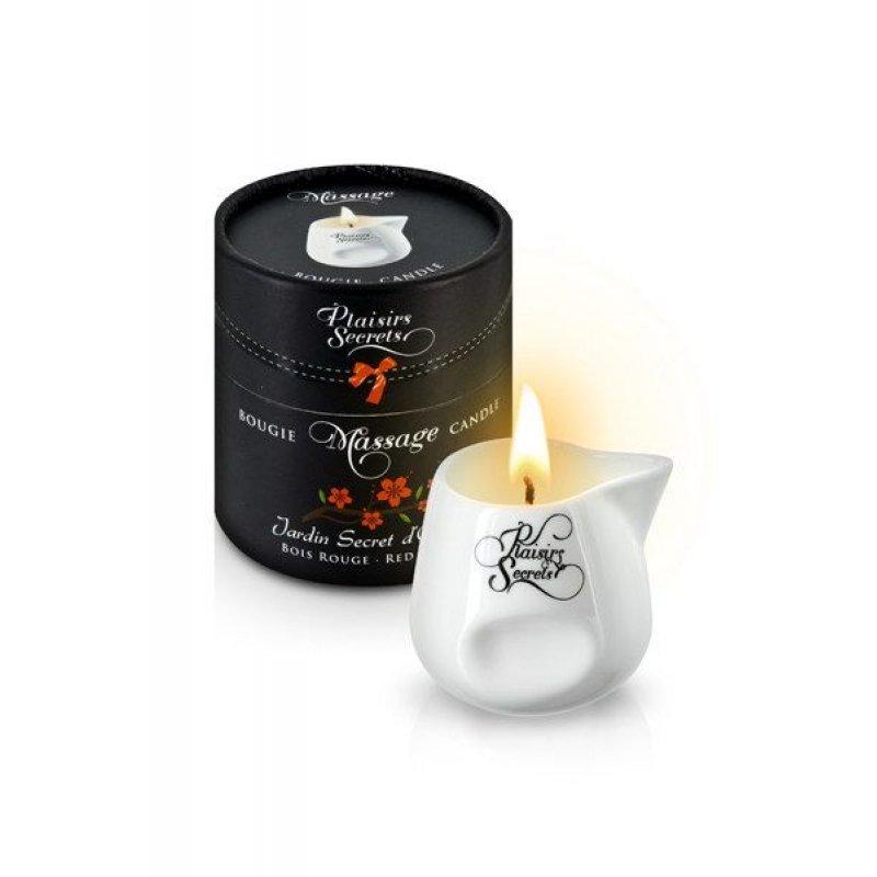 Массажная свеча Plaisirs Secrets Red Wood (80 мл) подарочная упаковка, керамический сосуд