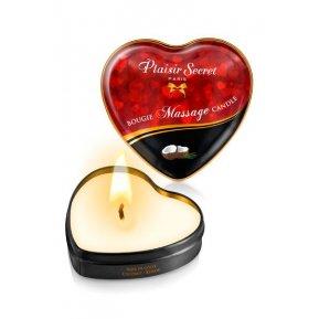 Массажная свеча сердечко Plaisirs Secrets Coconut (35 мл)