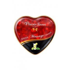 Массажная свеча сердечко Plaisirs Secrets Mojito (35 мл)