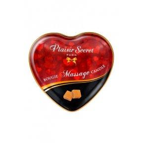 Массажная свеча сердечко Plaisirs Secrets Caramel (35 мл)