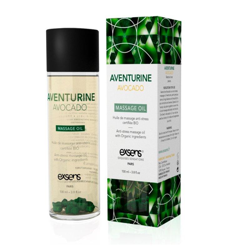 Массажное масло EXSENS Aventurine Avocado (анти-стресс с авантюрином) 100мл, натуральное