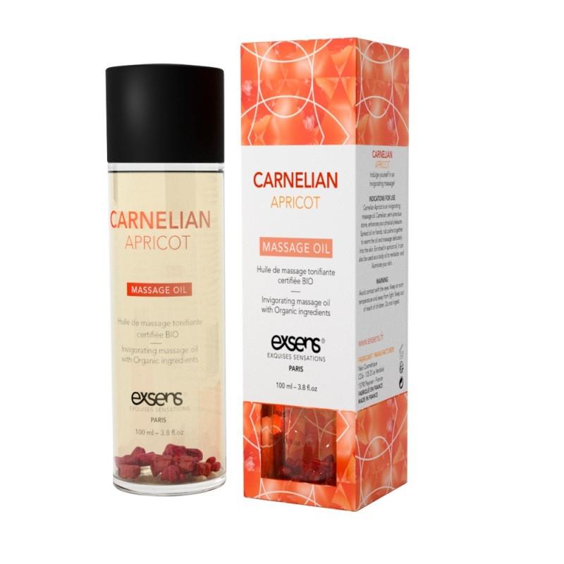 Массажное масло EXSENS Carnelian Apricot (бодрящее с сердоликом) 100мл, натуральное
