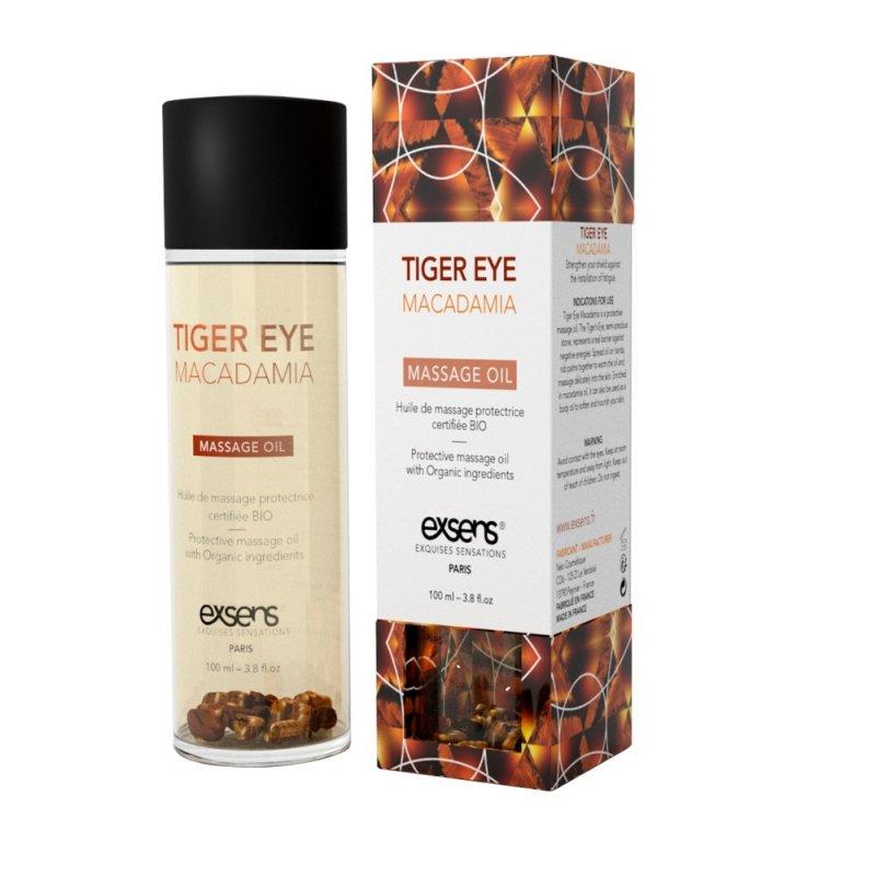 Массажное масло EXSENS Tiger Eye Macadamia (защита с тигровым глазом) 100мл, натуральное