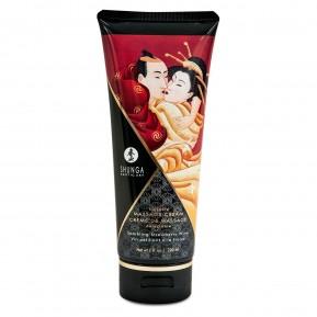 Съедобный массажный крем Shunga Kissable Massage Cream - Sparkling Strawberry Wine (200 мл)