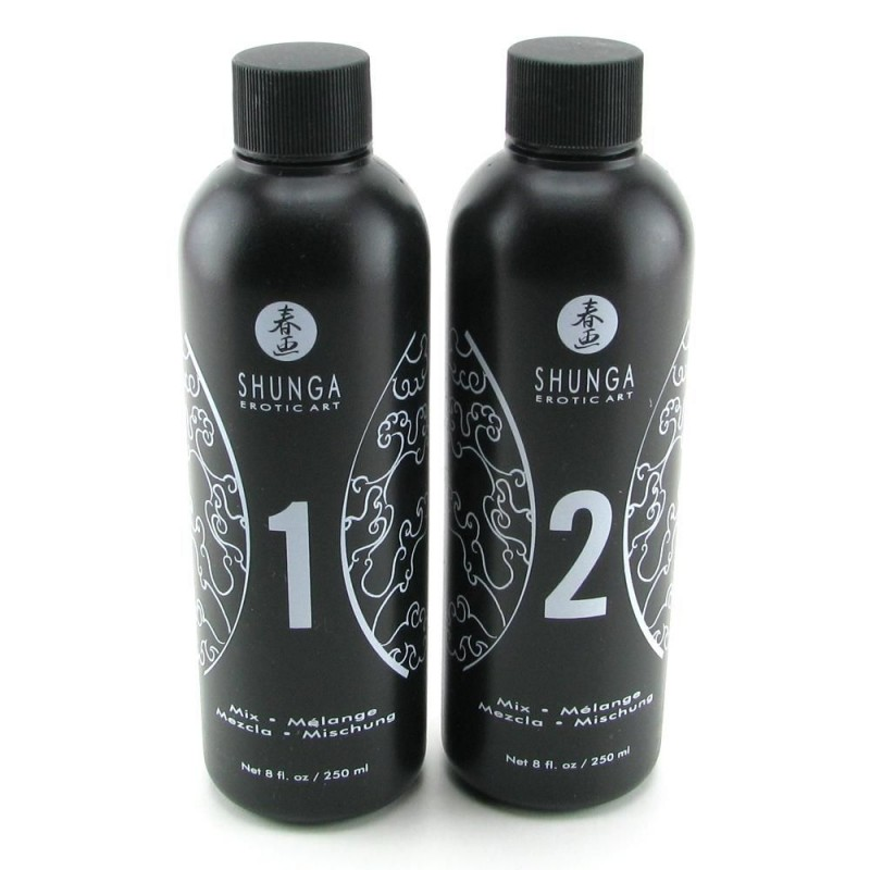 Гель для NURU массажа Shunga Oriental Body-to-Body - Exotic Fruits (2 x 225 мл) плюс простыня