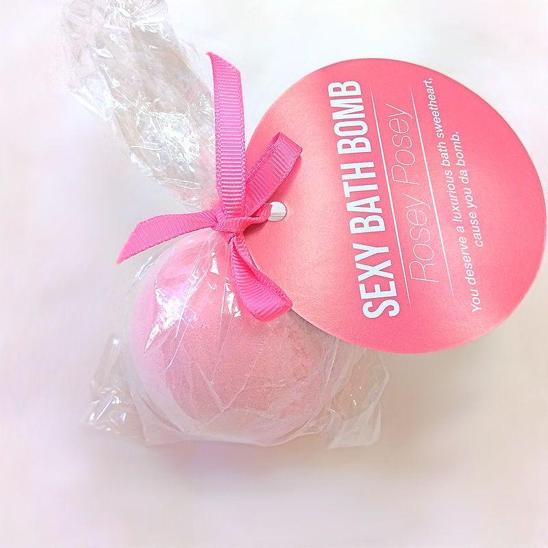 Супер-бомбочка для ванны Dona Bath Bomb - Rosey Posey (128 гр), приятный аромат розы
