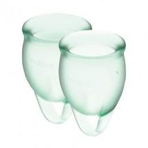 Набор менструальных чаш Satisfyer Feel Confident (light green), 15мл и...
