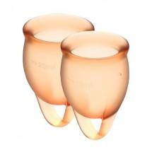 Набор менструальных чаш Satisfyer Feel Confident (orange), 15мл и 20мл...